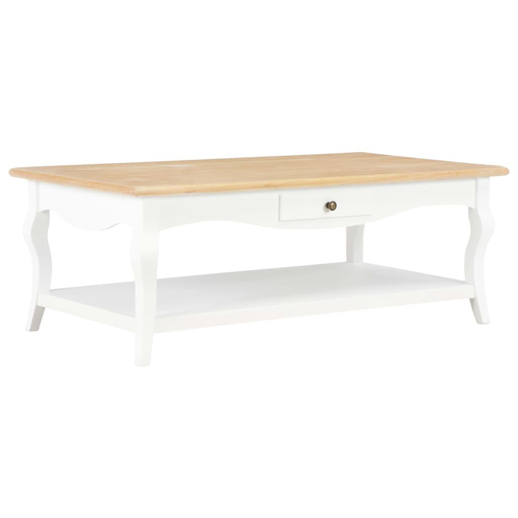 vidaXL Konferenčný stolík biely 110x60x40 cm MDF