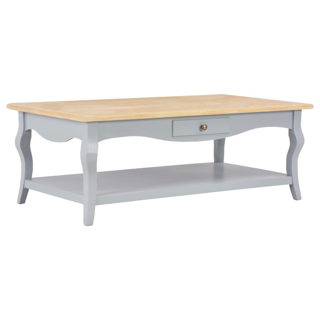 vidaXL Konferenčný stolík sivý 110x60x40 cm MDF