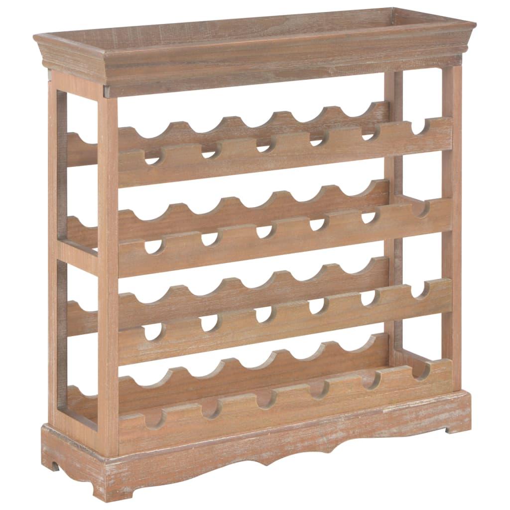 vidaXL Skrinka na víno, hnedá 70x22,5x70,5 cm, MDF