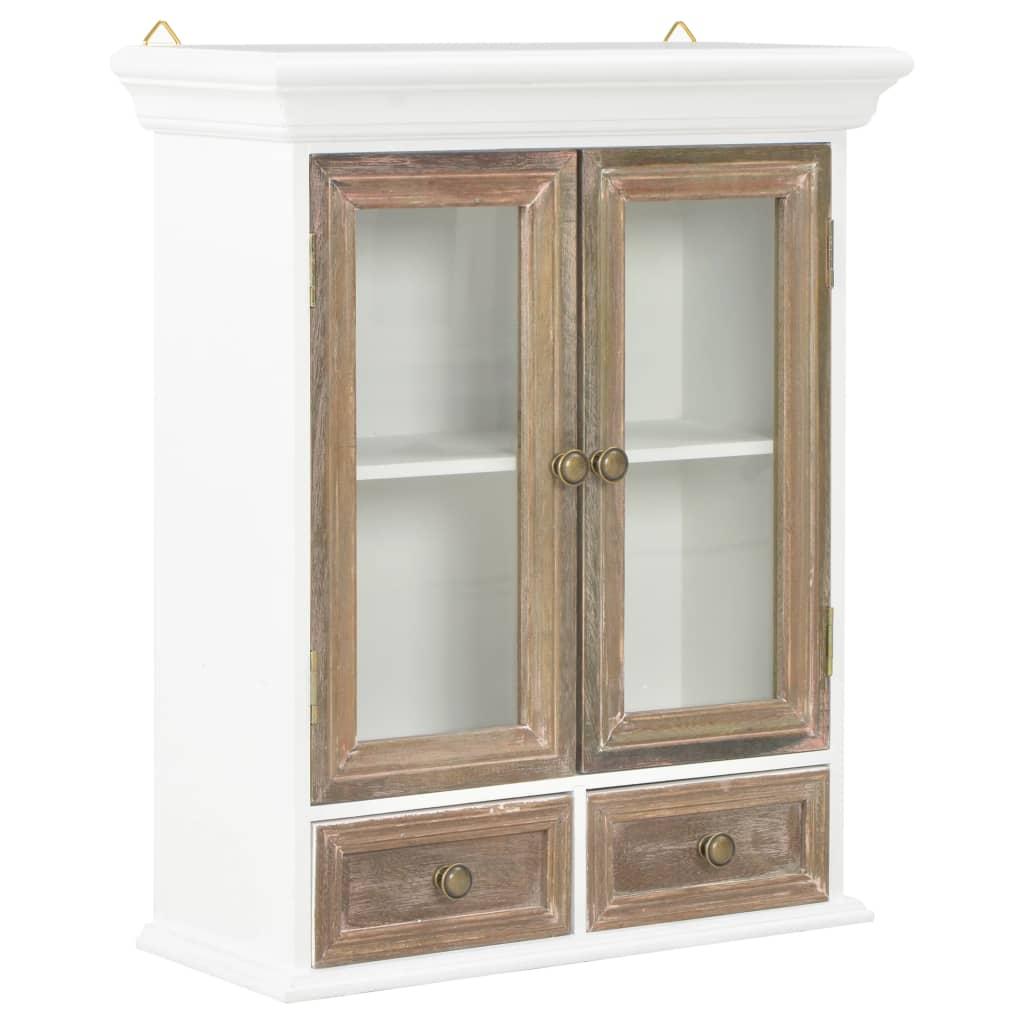 vidaXL Nástenná drevená skrinka biela 49x22x59 cm