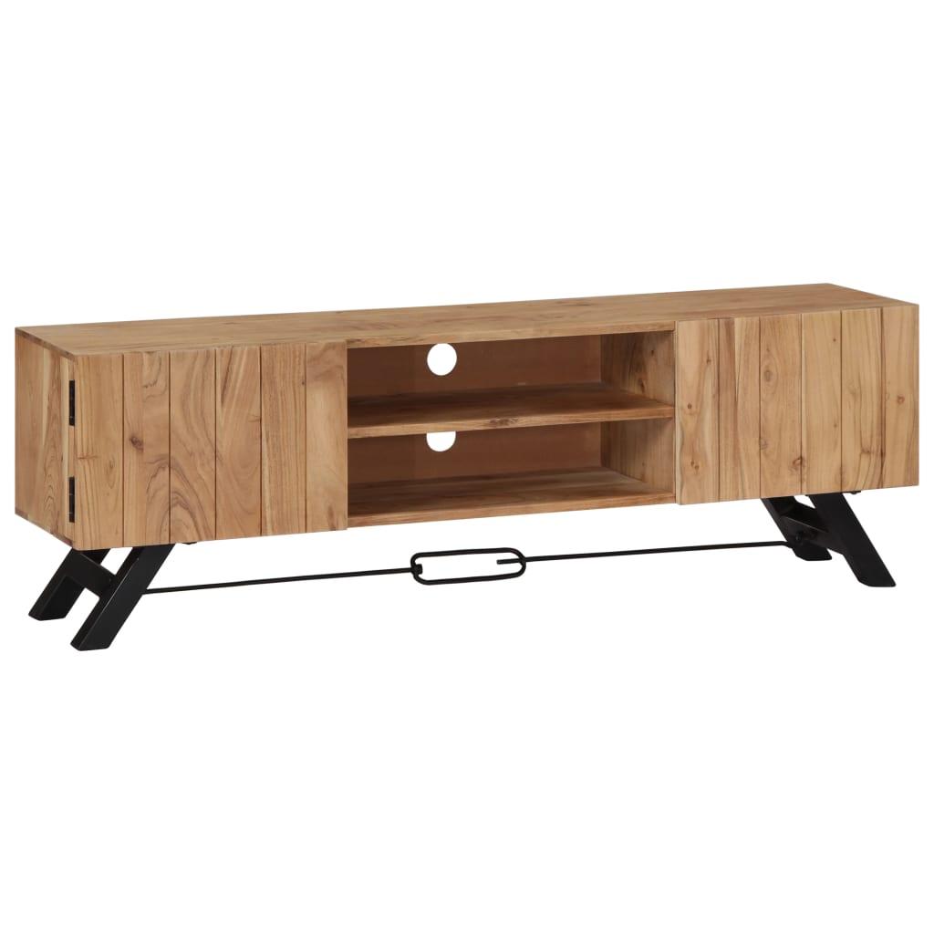 vidaXL TV skrinka z akáciového dreva 140x30x45 cm