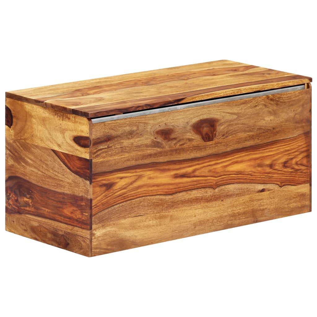 vidaXL Úložná truhlica 80x40x40 cm masívne sheeshamové drevo