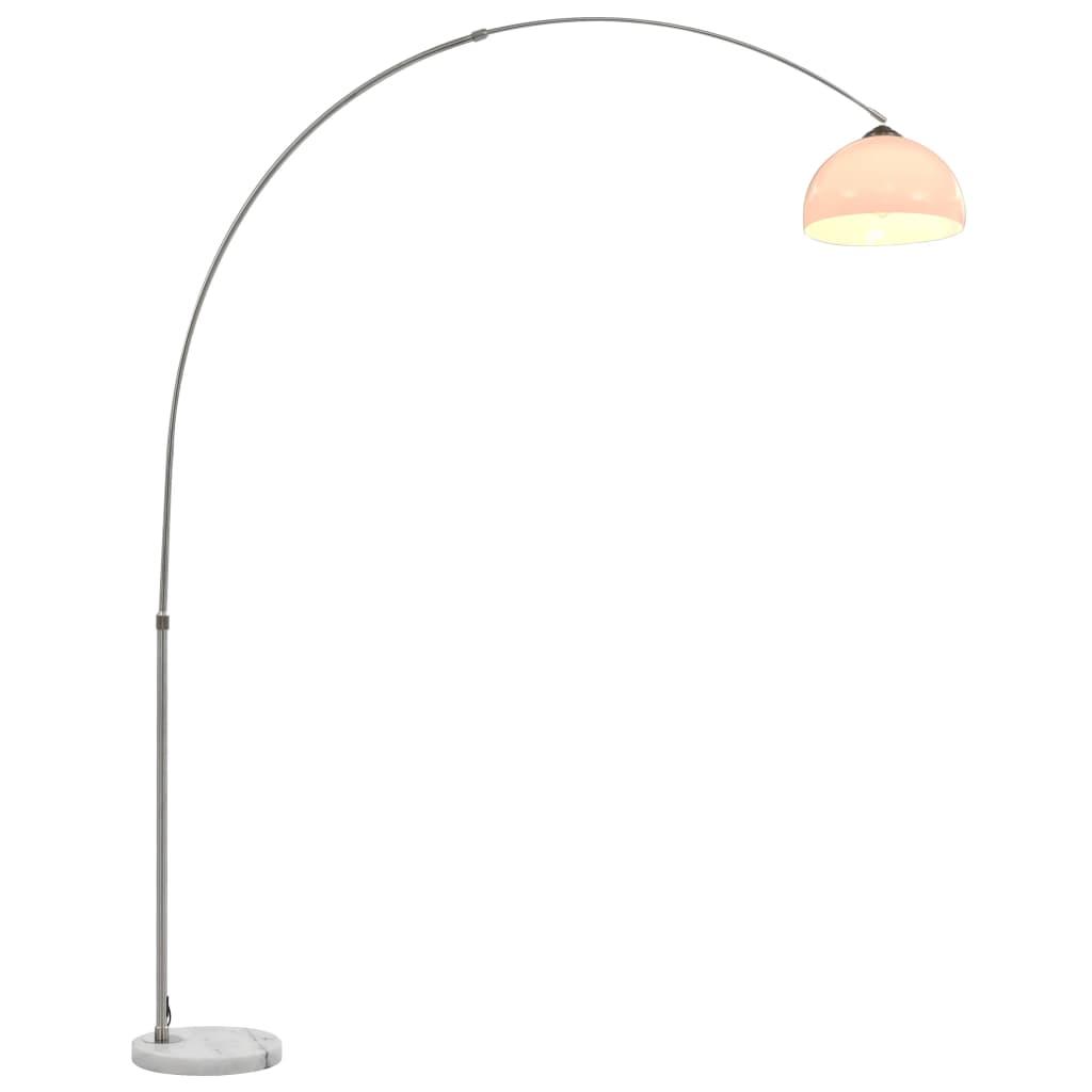 vidaXL Oblúková lampa strieborná 200 cm 60 W E27