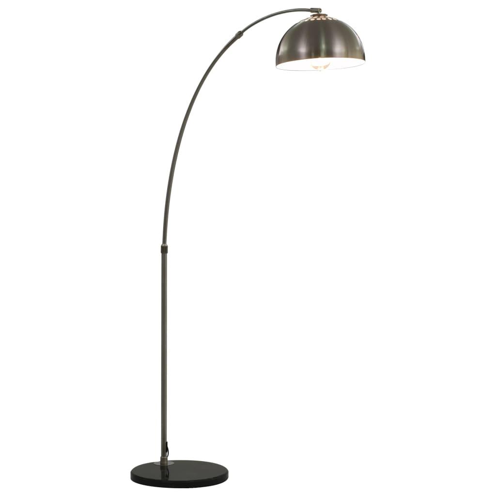 vidaXL Oblúková lampa strieborná 170 cm 60 W E27