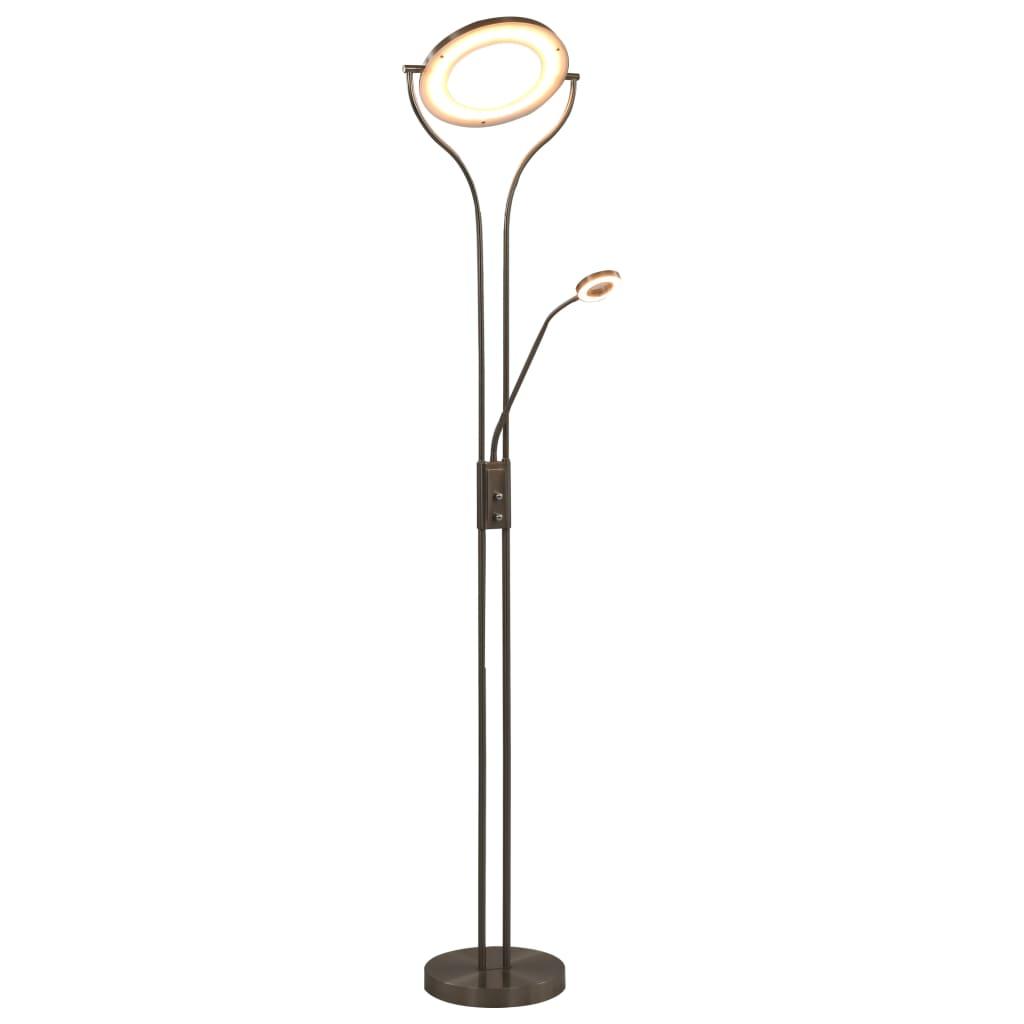 vidaXL Stojanová lampa strieborná 180 cm 18 W stmievateľná