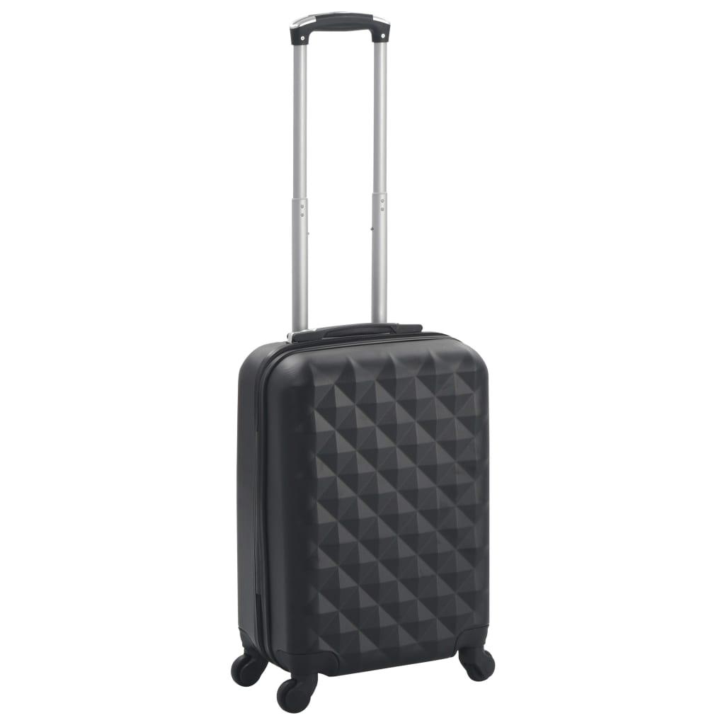 vidaXL Cestovný kufor s tvrdým krytom čierny ABS