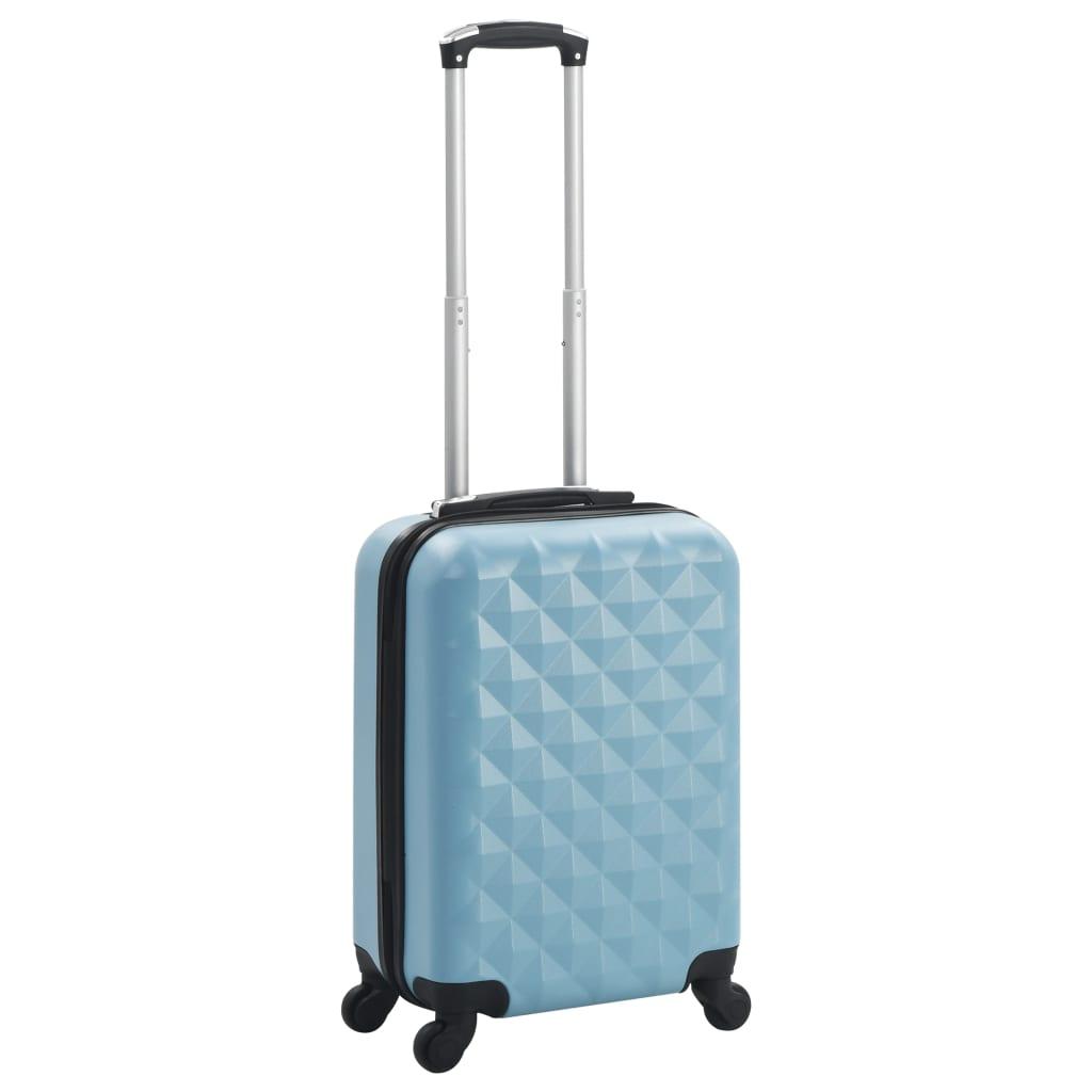vidaXL Cestovný kufor s tvrdým krytom modrý ABS