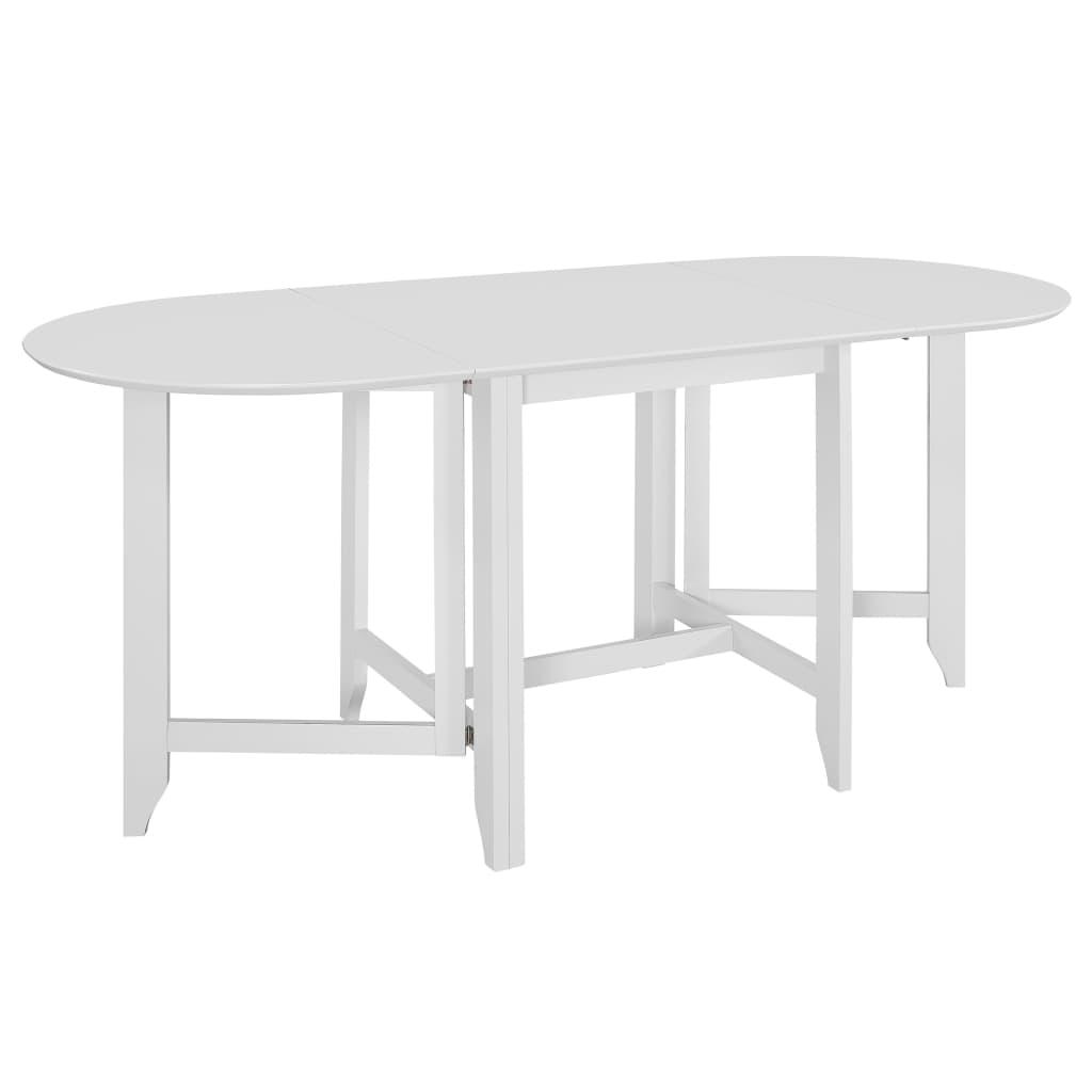 vidaXL Rozkladací jedálenský stôl biely (75-180)x75x74 cm MDF