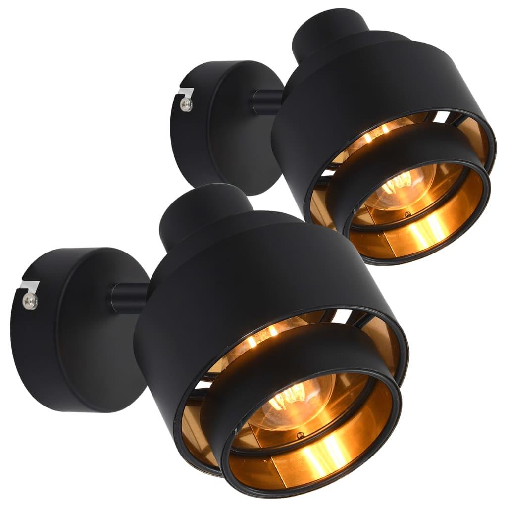 vidaXL Bodové svetlá 2 ks čierne E14