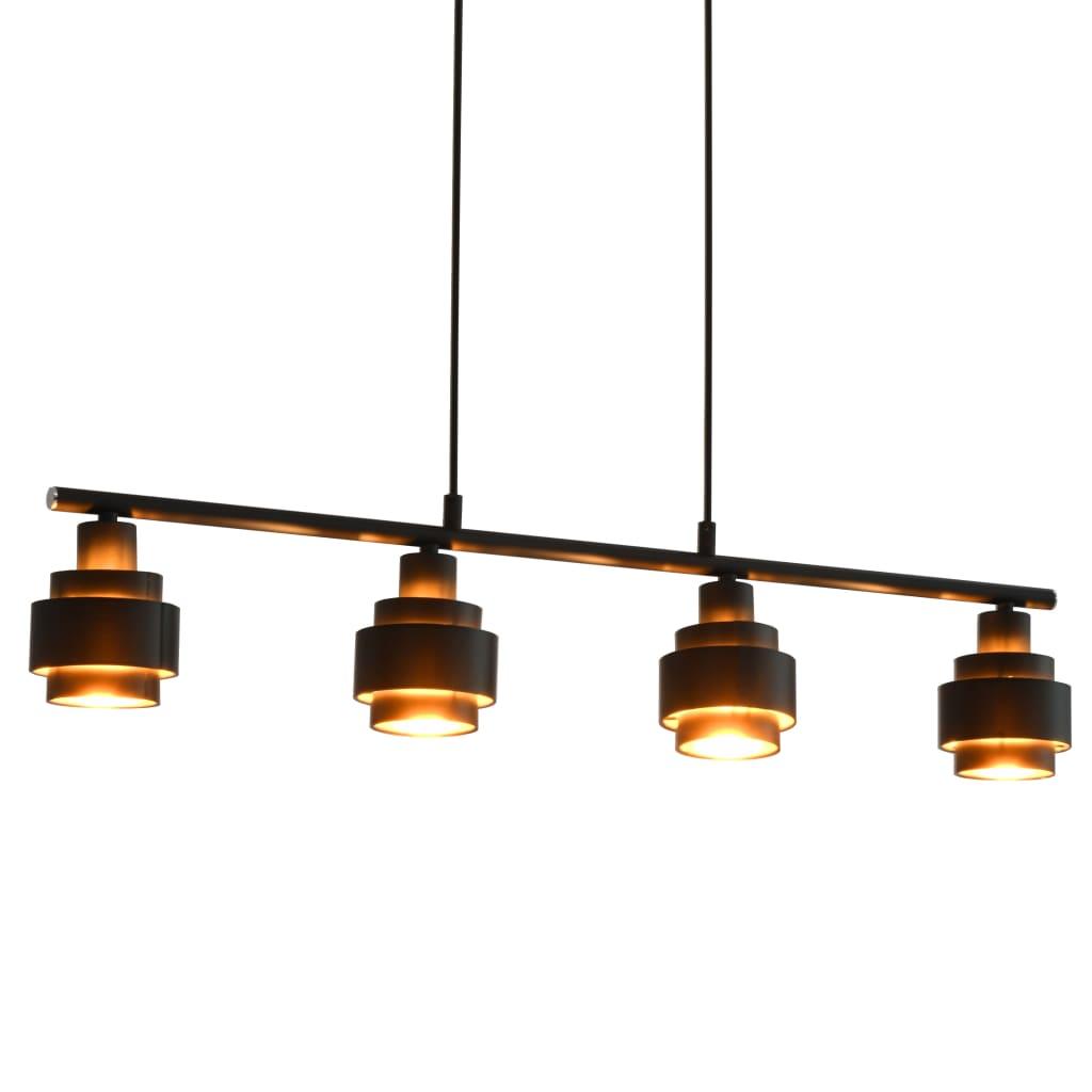 vidaXL Stropná lampa čierna 82 cm E14