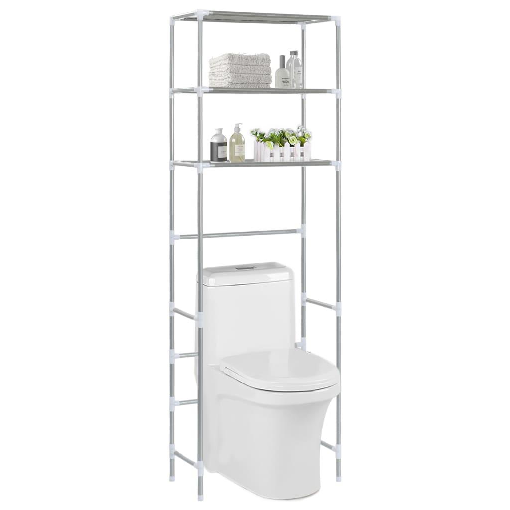 vidaXL Úložný regál nad toaletu s 3 poličkami 53x28x169 cm