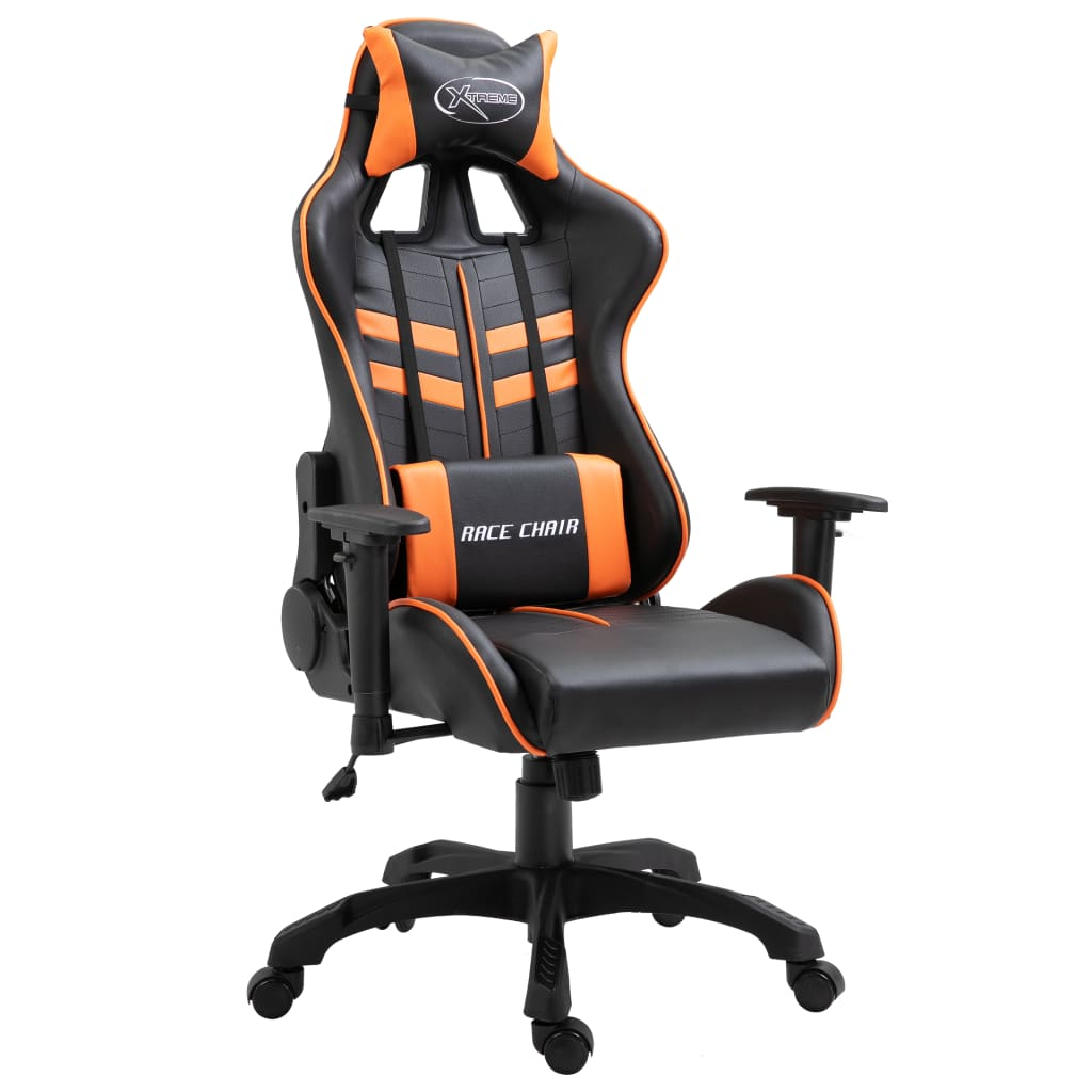 vidaXL Herná stolička oranžová PU