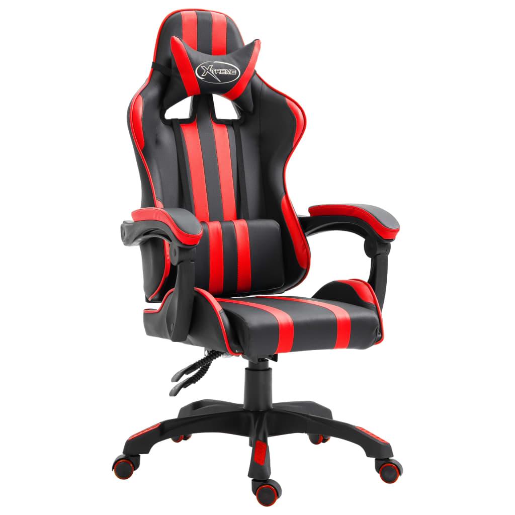 vidaXL Herná stolička červená PU