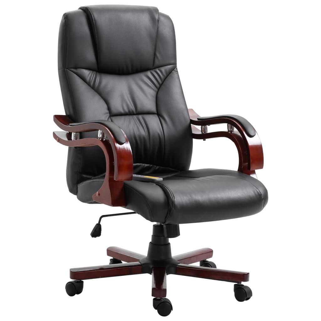 vidaXL Kancelárske kreslo, čierne, umelá koža