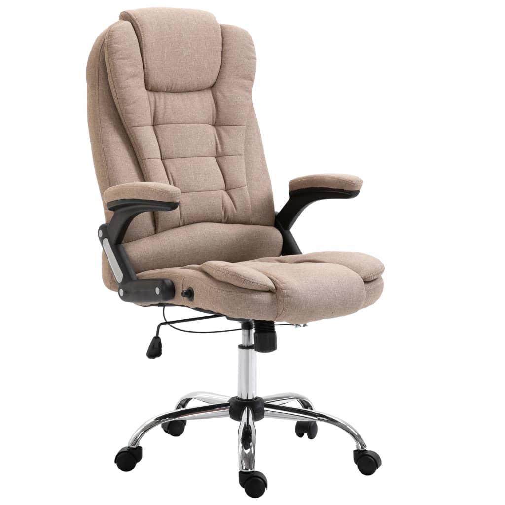 vidaXL Kancelárske kreslo, sivohnedé, polyester