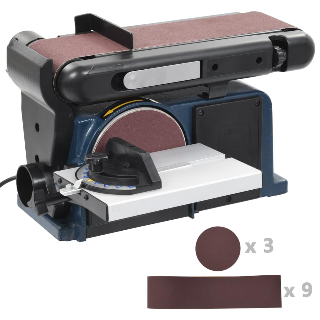 vidaXL Elektrická kotúčová a pásová brúska 370 W 150 mm