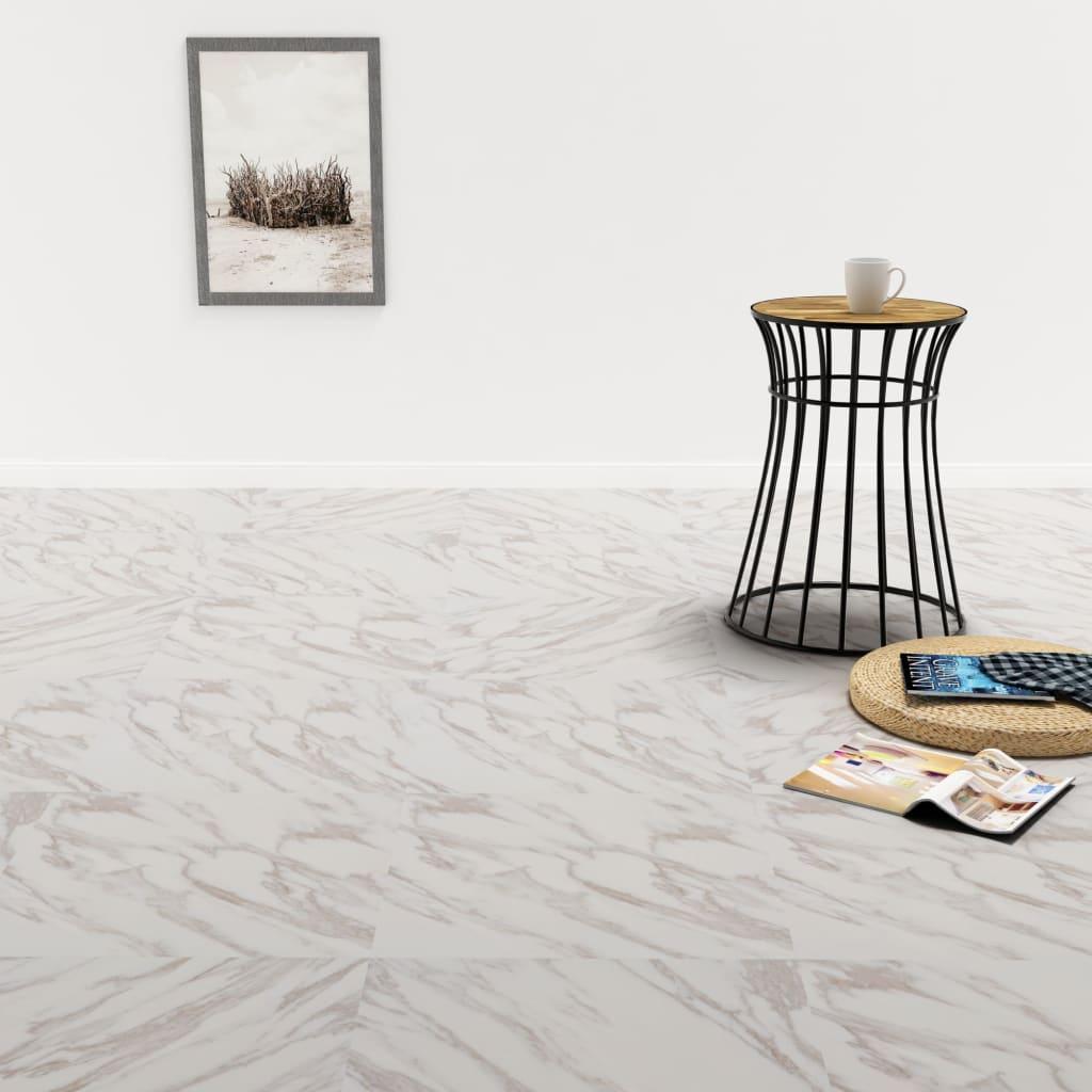 vidaXL Samolepiace podlahové dosky z PVC 5,11 m², biely mramor
