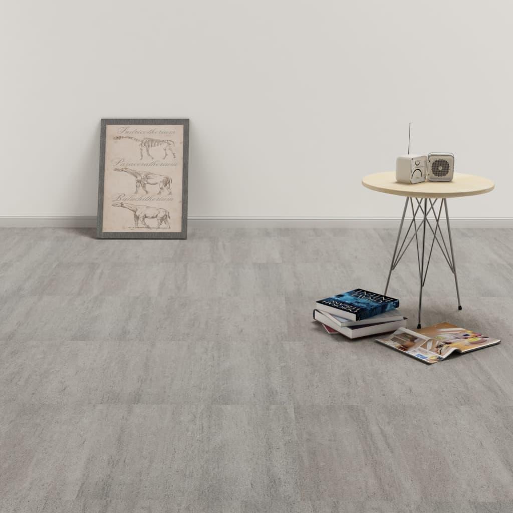 vidaXL Samolepiace podlahové dosky z PVC 5,11 m², sivé, tieňované