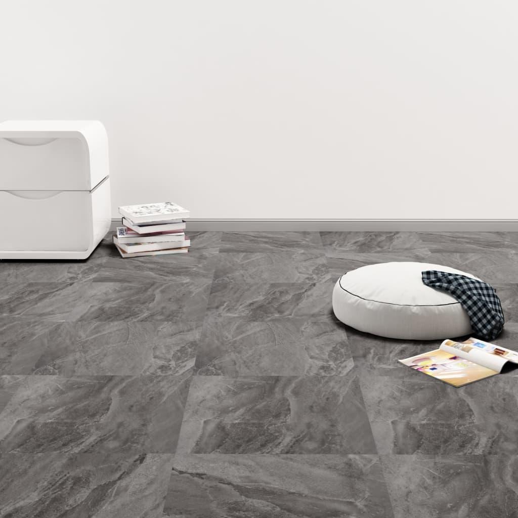 vidaXL Samolepiace podlahové dosky z PVC 5,11 m², čierna so vzorom