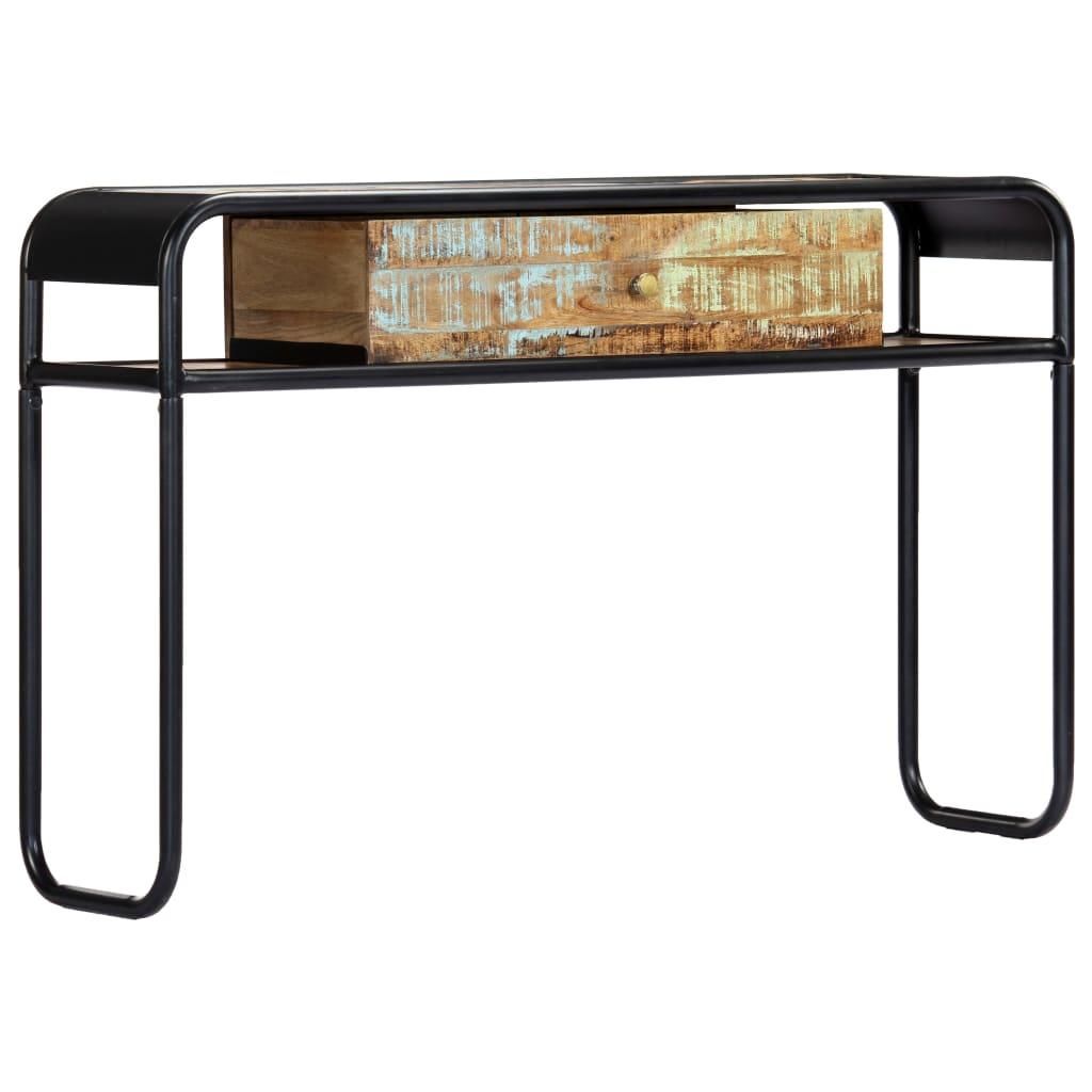 vidaXL Konzolový stolík 118x30x75 cm masívne recyklované drevo