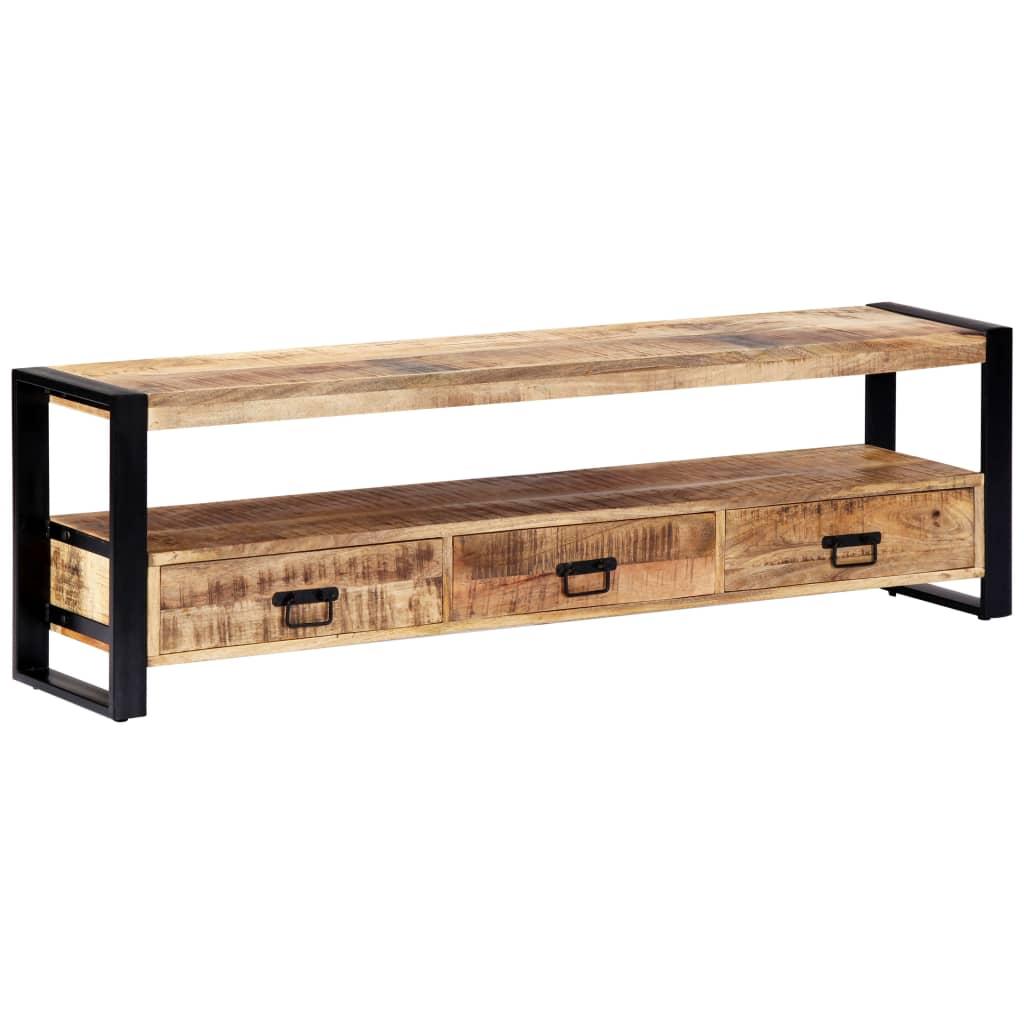 vidaXL TV skrinka 150x30x45 cm masívne mangovníkové drevo
