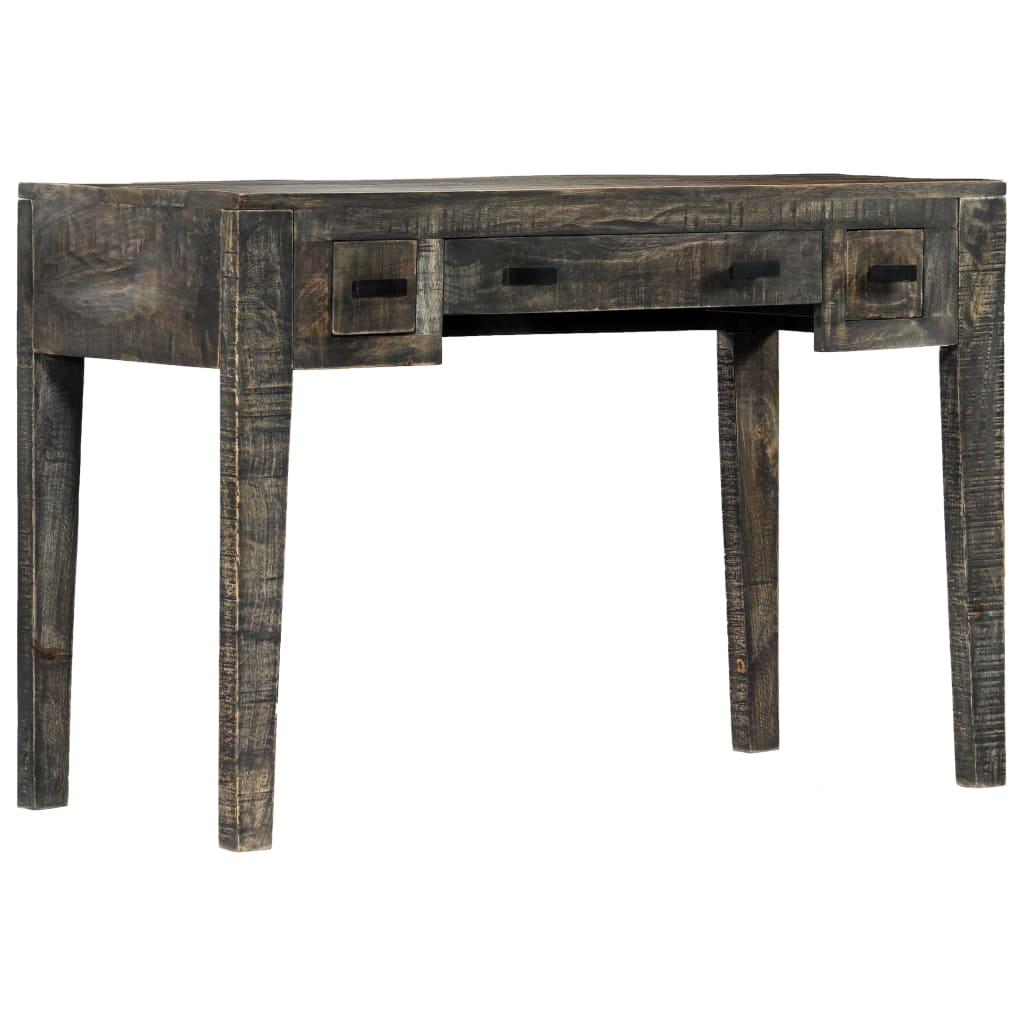 vidaXL Stôl čierny 110x50x75 cm masívne mangovníkové drevo