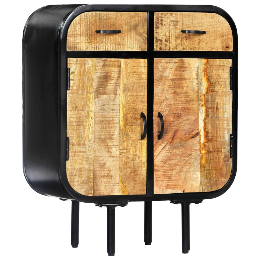 vidaXL Komoda 60x30x75 cm masívne mangovníkové drevo a železo