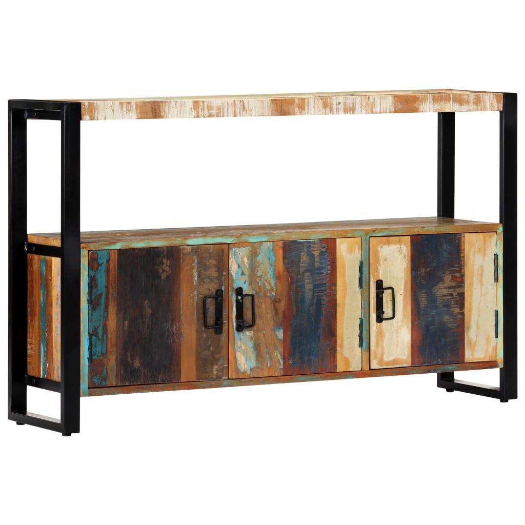 vidaXL Komoda 120x30x75 cm masívne recyklované drevo