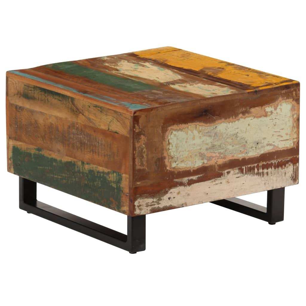 vidaXL Konferenčný stolík 50x50x35 cm masívne recyklované drevo