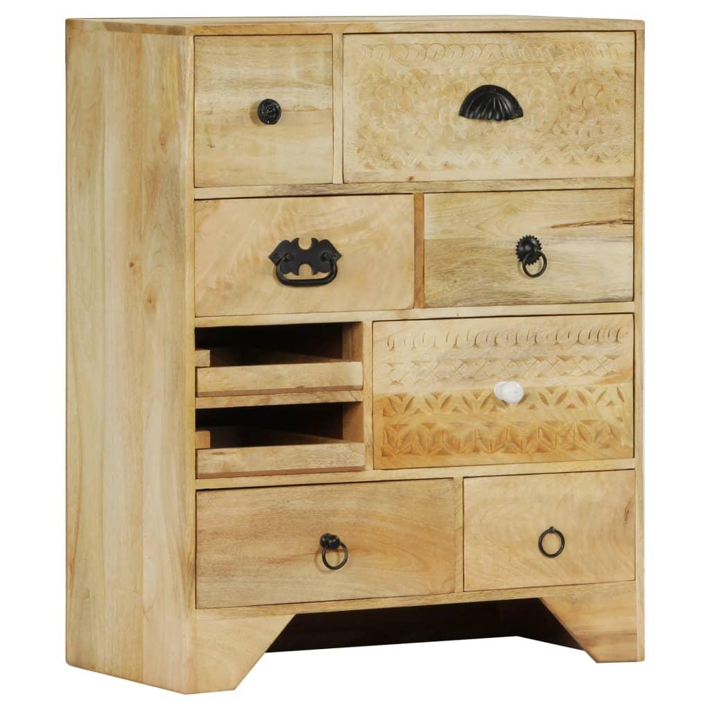 vidaXL Zásuvková skrinka z mangovníkového dreva 60x30x75 cm