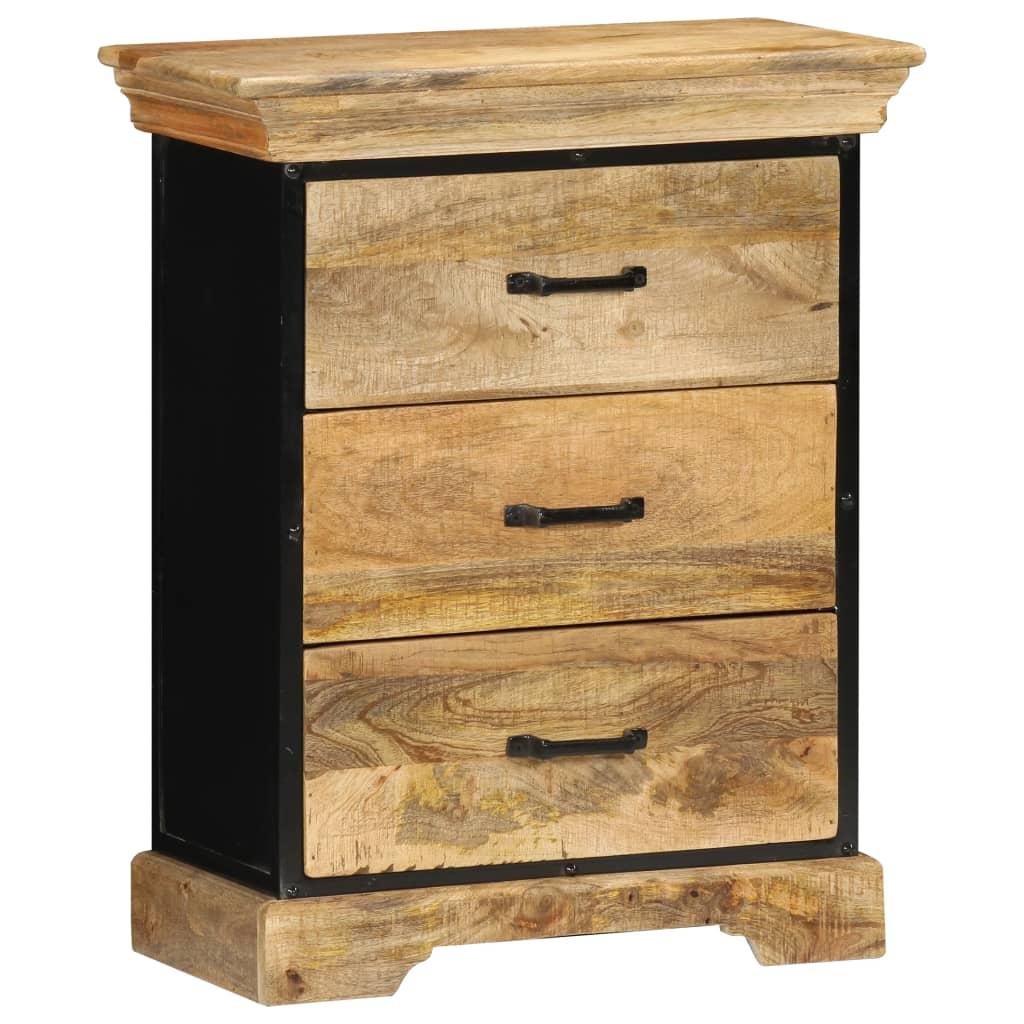 vidaXL Skrinka so zásuvkami 60x30x75 cm masívne mangovníkové drevo