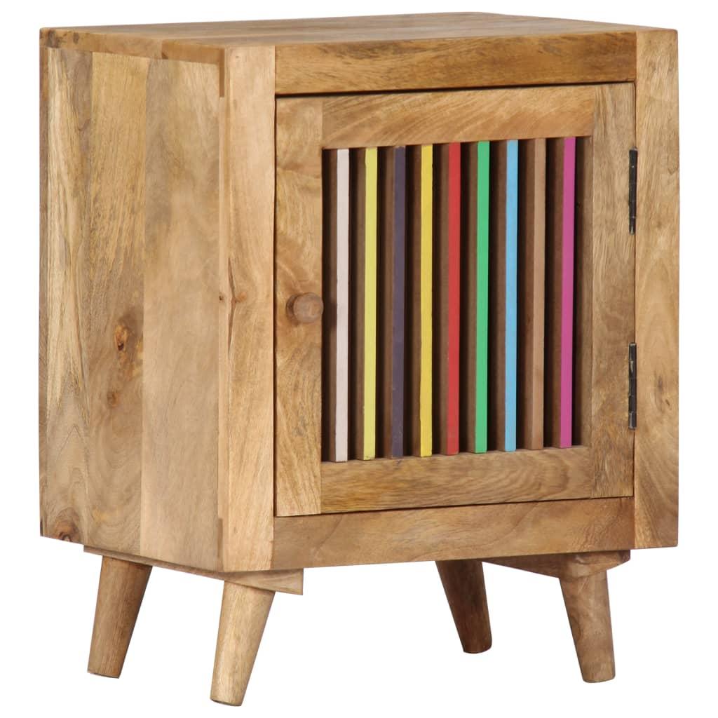 vidaXL Nočný stolík 40x30x50 cm, mangový masív