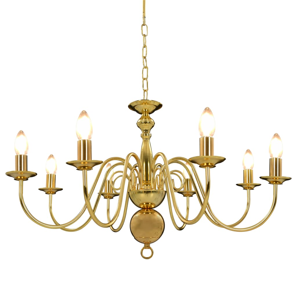 vidaXL Luster, zlatý 8 x žiarovky E14