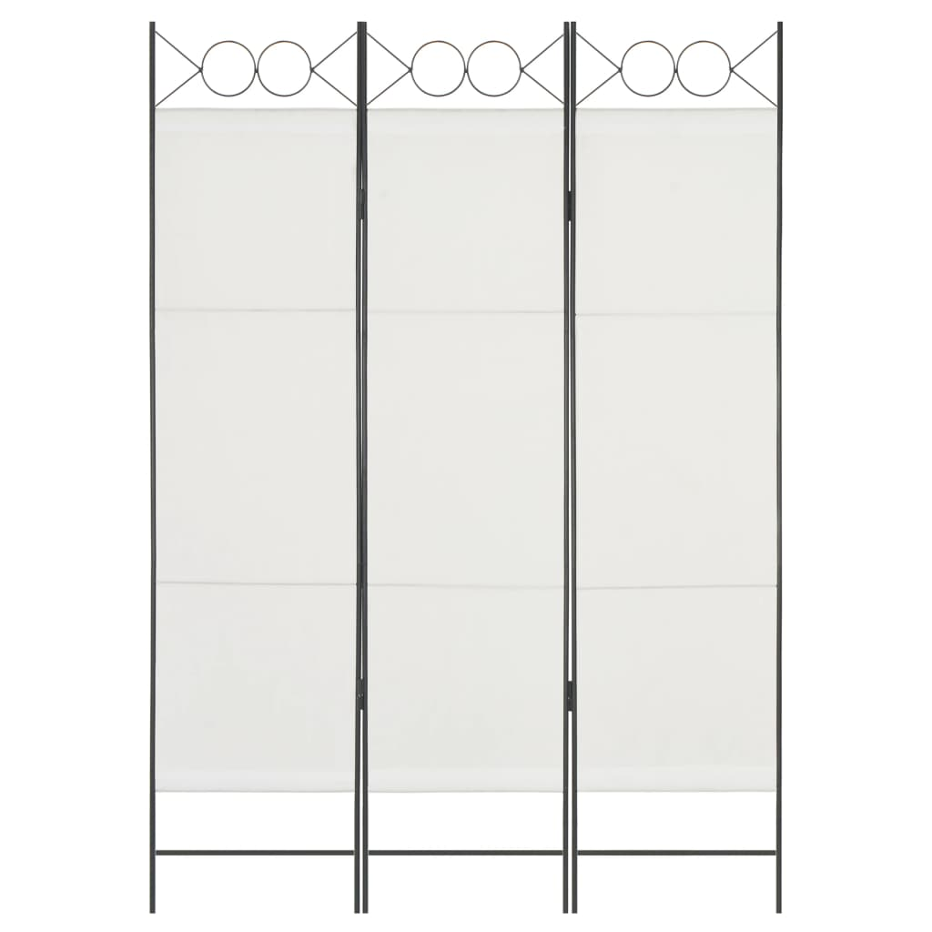 vidaXL 3-panelový paraván biely 120x180 cm