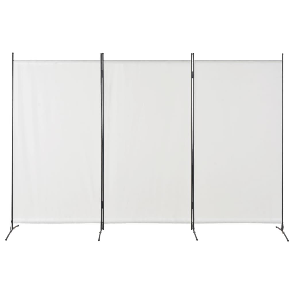 vidaXL 3-panelový paraván biely 260x180 cm