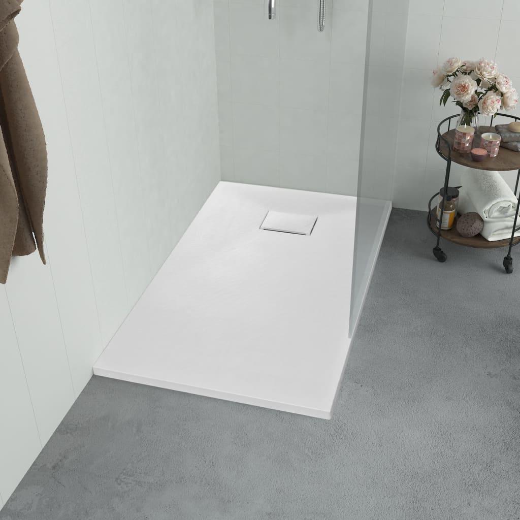 vidaXL Sprchová vanička, SMC, biela 100x80 cm