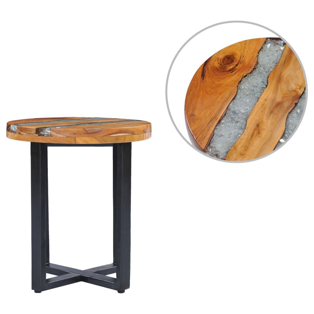 vidaXL Konferenčný stolík 40x45 cm tíkový masív a polyresin