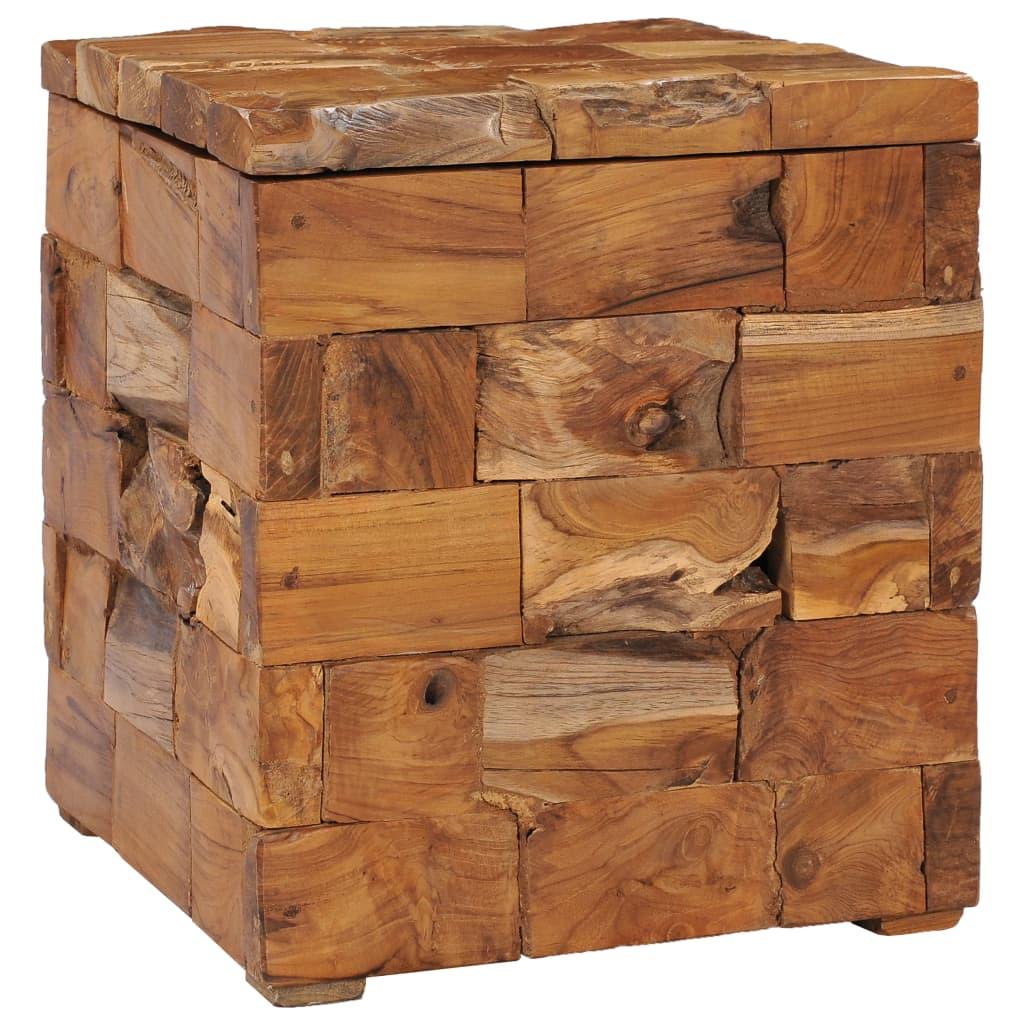 vidaXL Úložné sedadlo 40x40x45 cm masívne teakové dreva