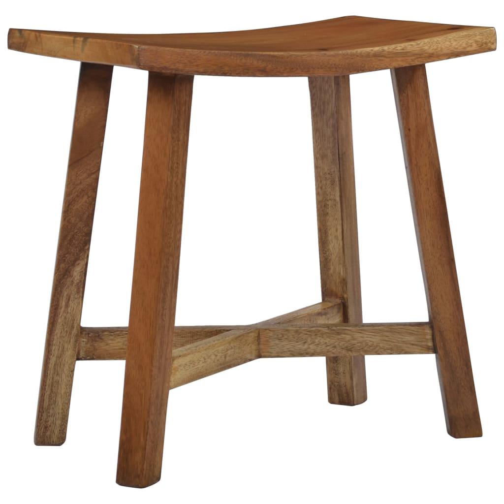 vidaXL Kúpeľňová stolička masívne suarové drevo