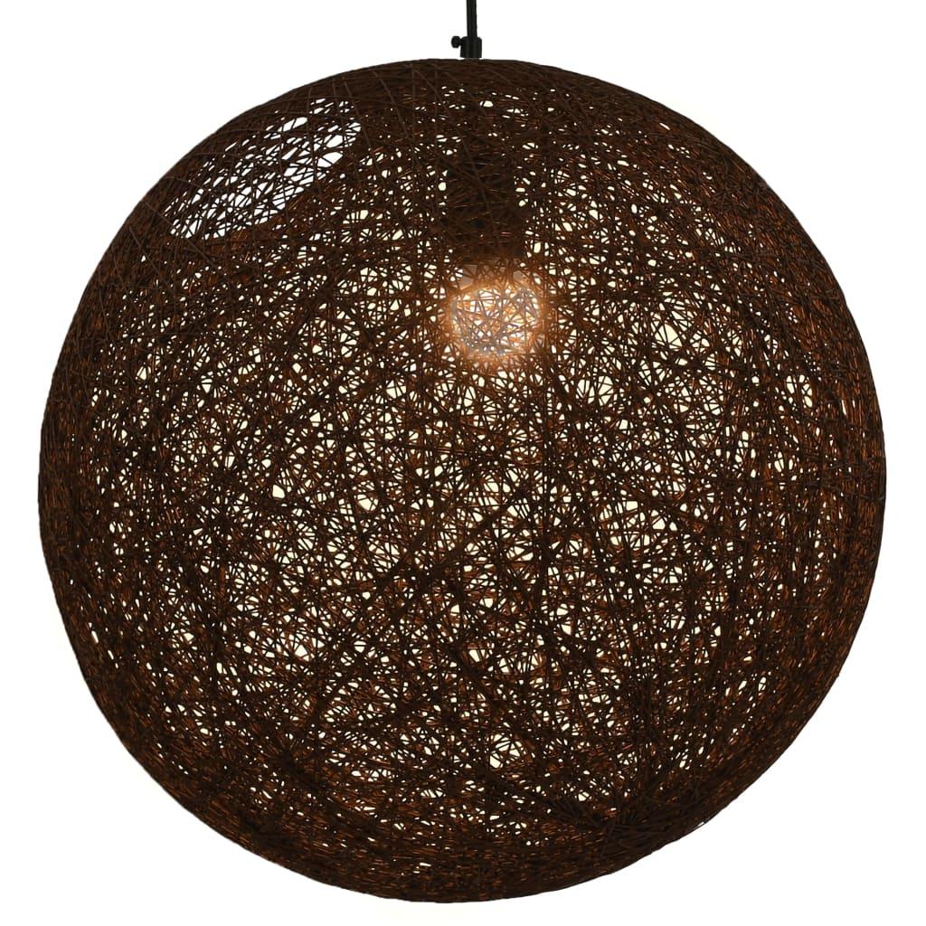vidaXL Závesná lampa hnedá 45 cm okrúhla E27