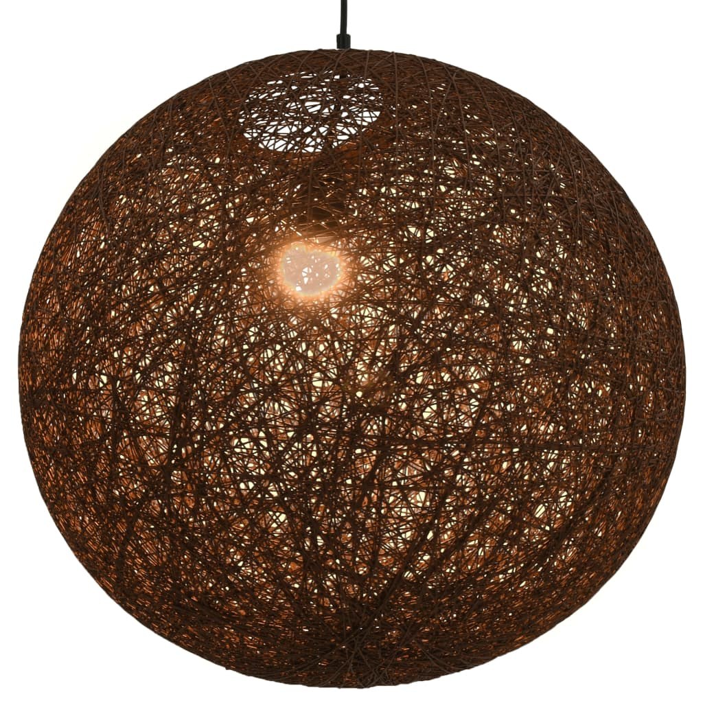 vidaXL Závesná lampa hnedá 55 cm okrúhla E27