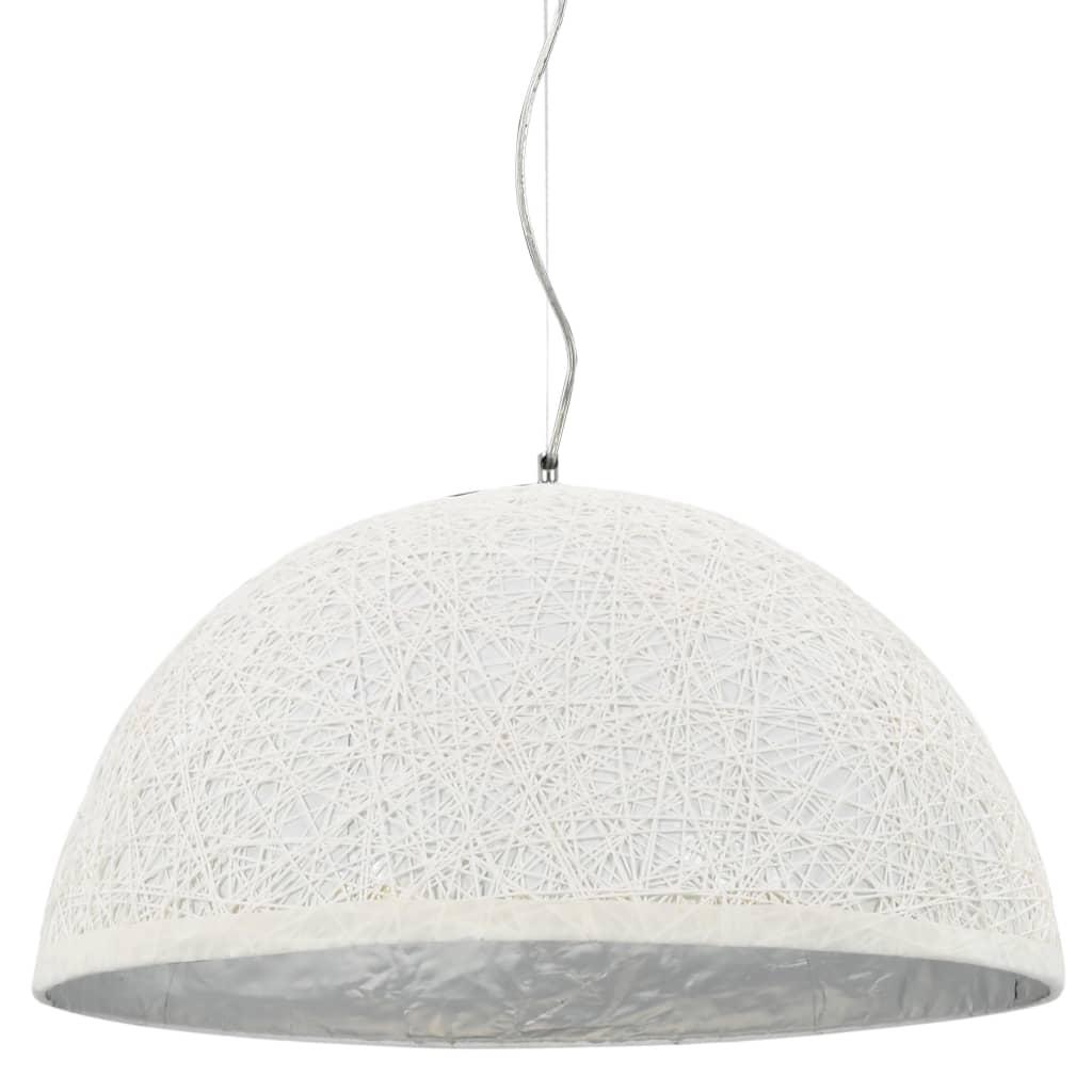 vidaXL Závesná lampa biela a strieborná Ø50 cm E27