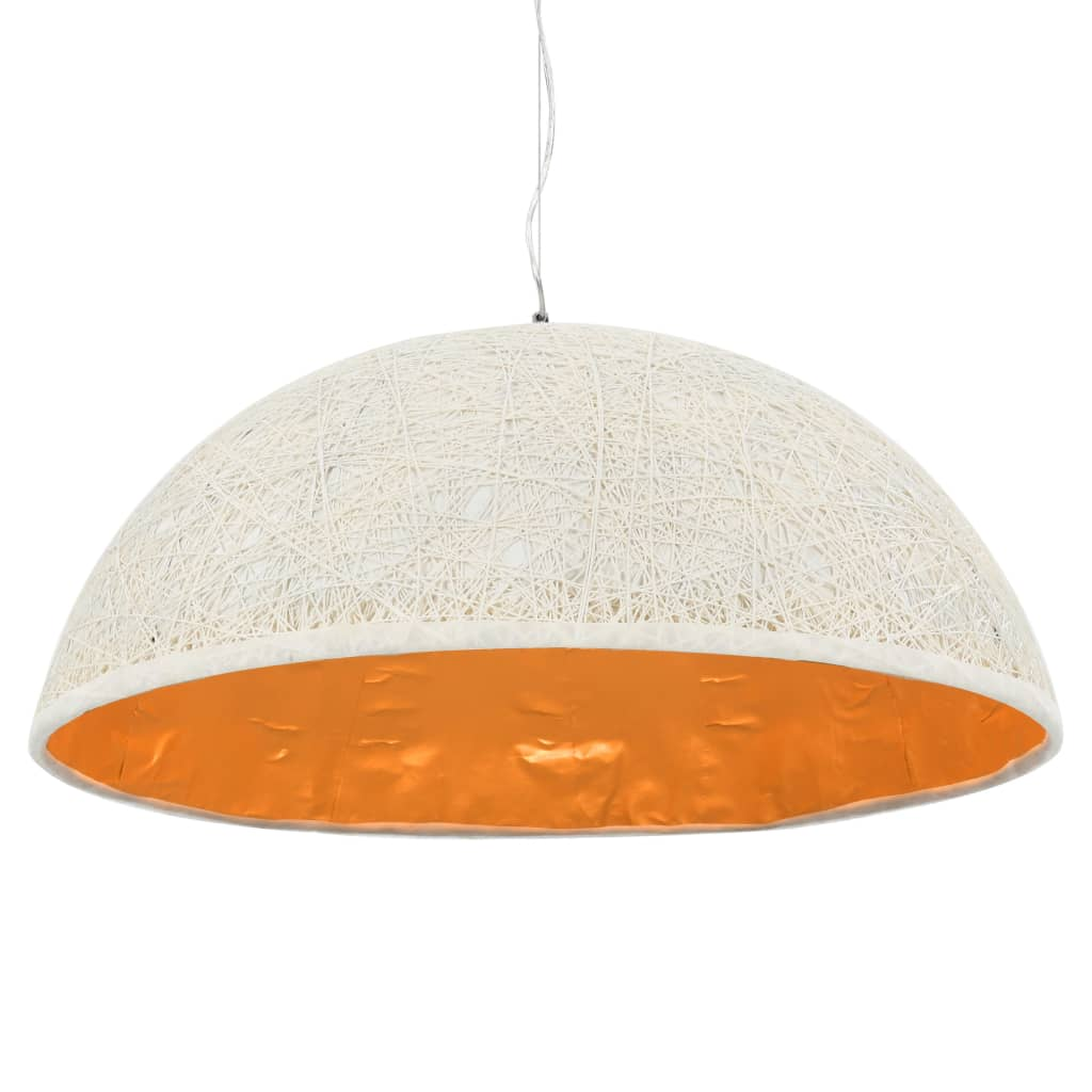 vidaXL Závesná lampa biela a zlatá Ø70 cm E27