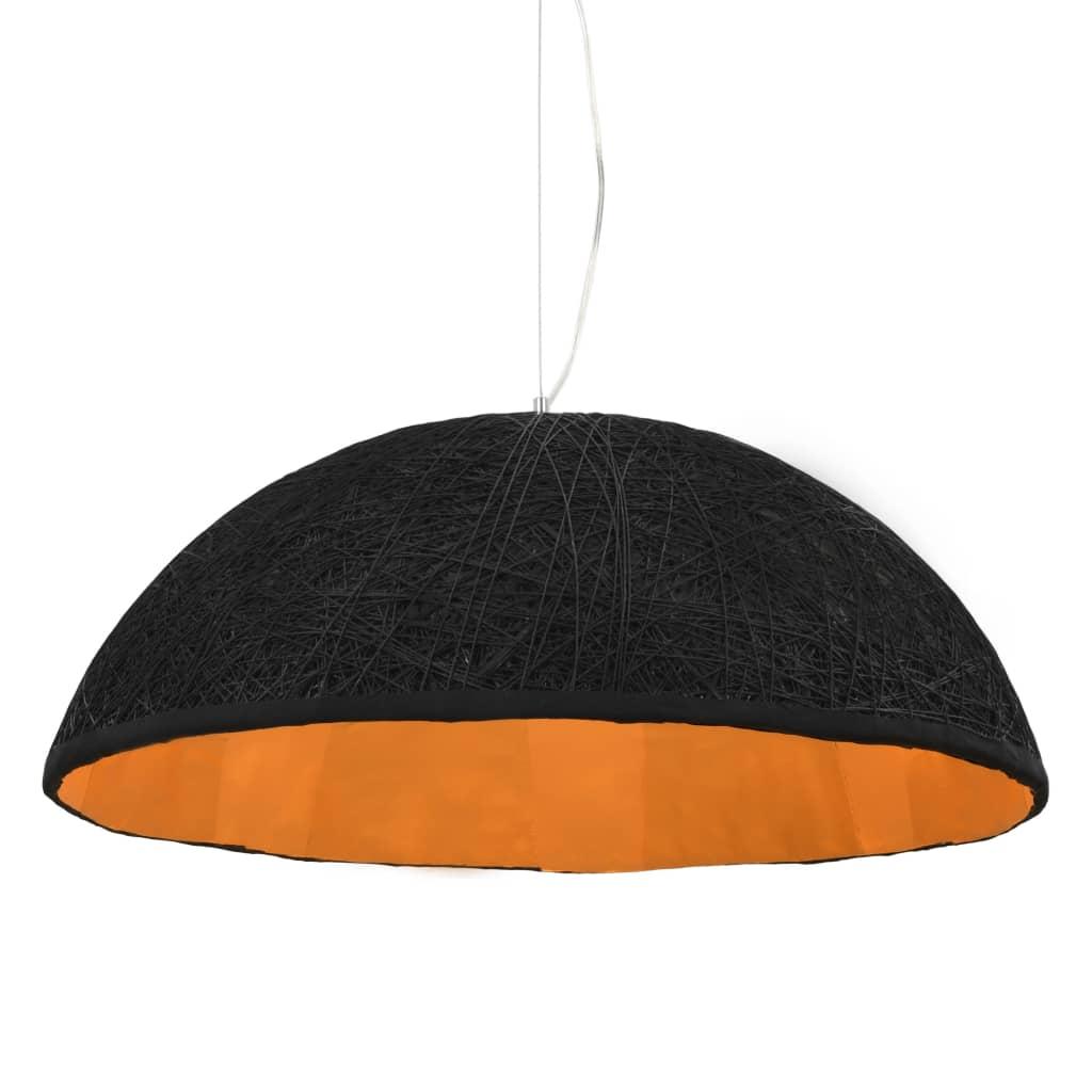 vidaXL Závesná lampa čierna a zlatá Ø70 cm E27