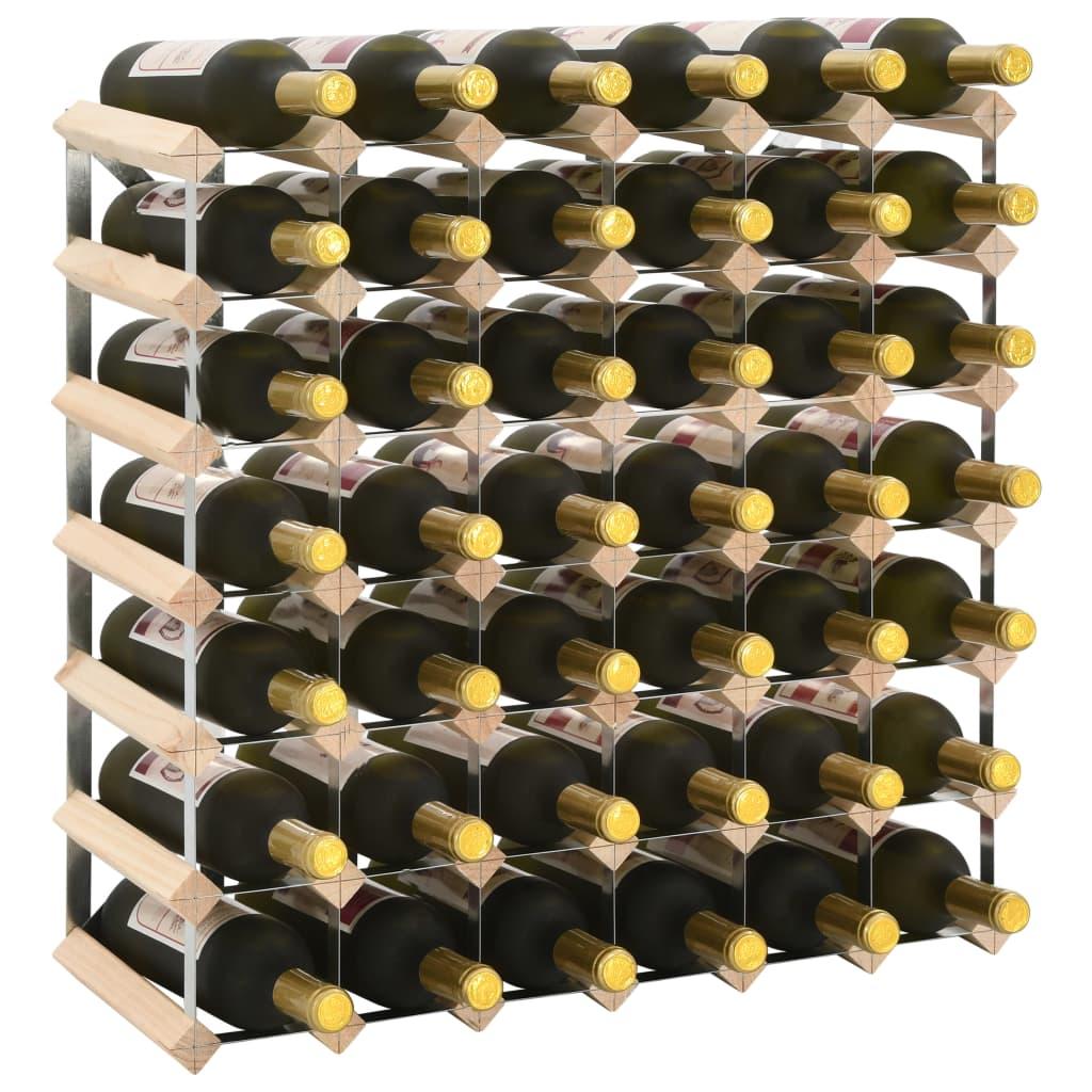 vidaXL Stojan na víno na 42 fliaš masívne borovicové drevo