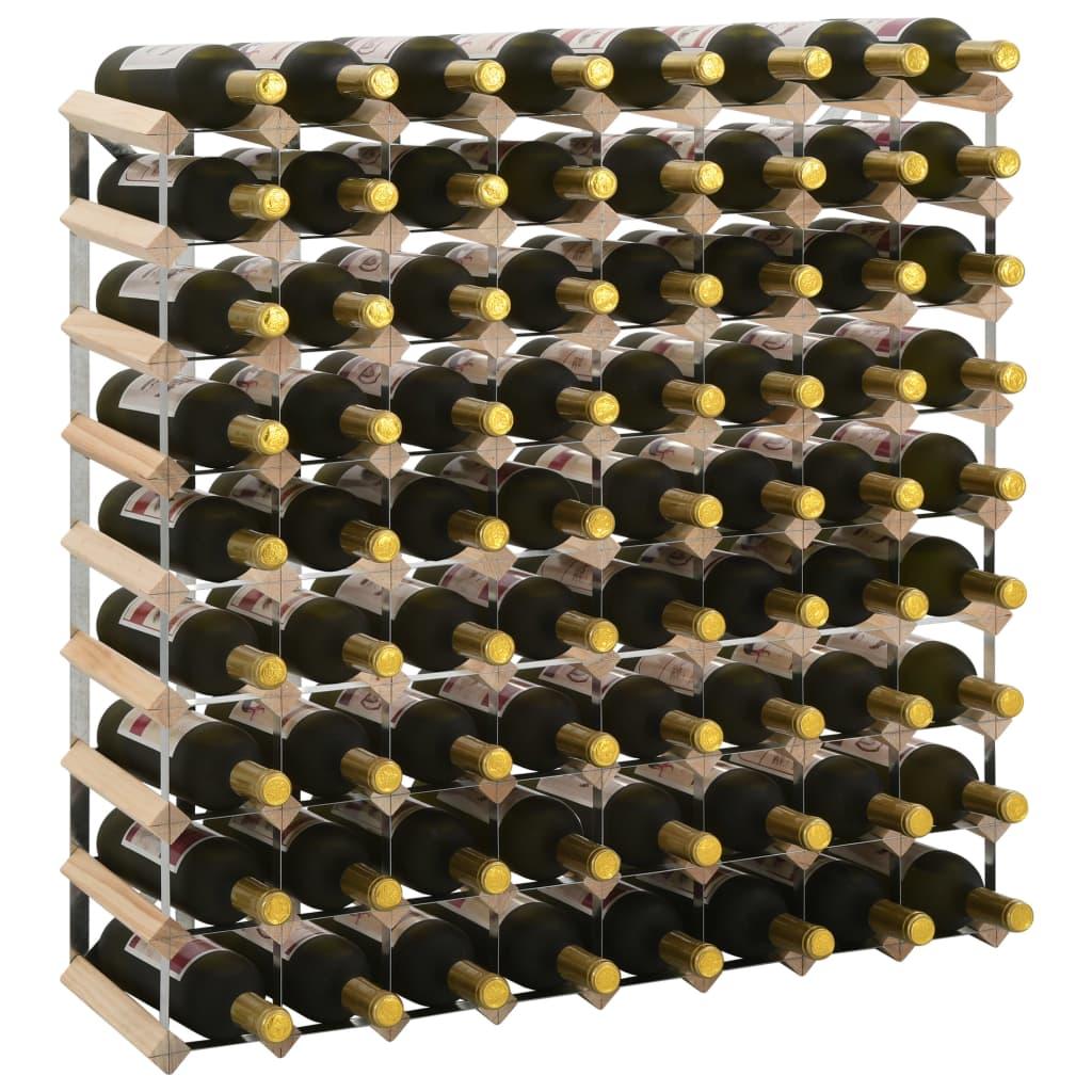 vidaXL Stojan na víno na 72 fliaš masívne borovicové drevo