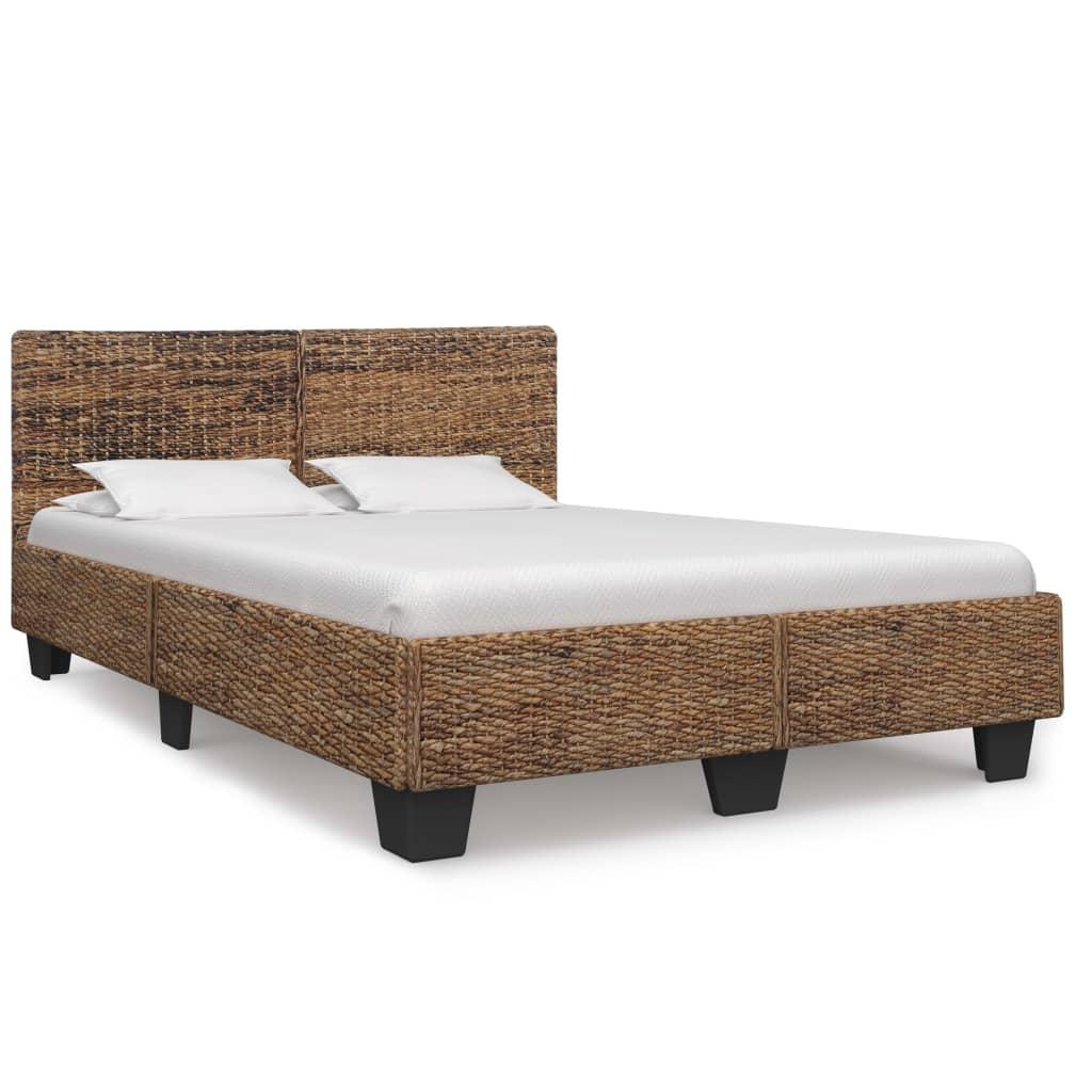 vidaXL Rám postele prírodný ratan 140x200 cm