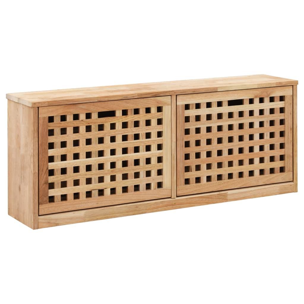 vidaXL Úložná lavica na topánky 94x20x38 cm masívne orechové drevo