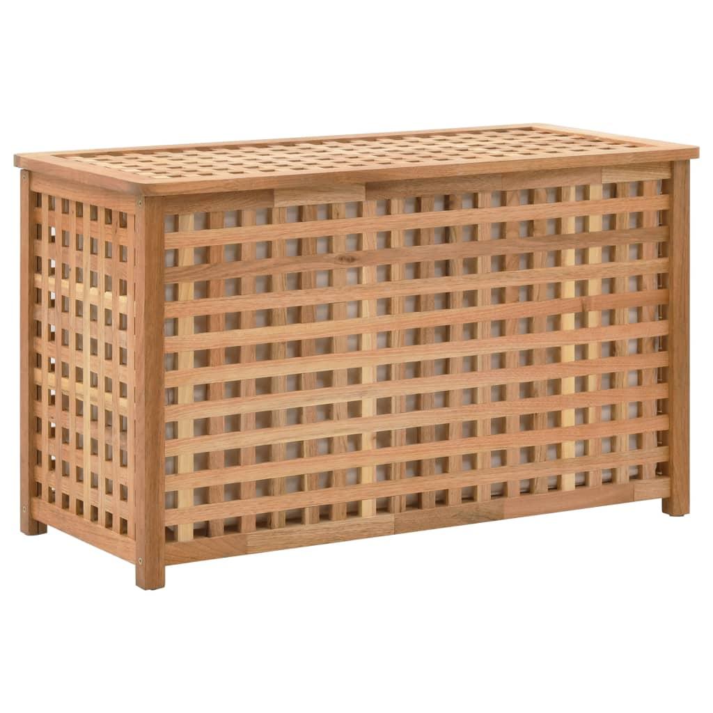 vidaXL Truhlica na bielizeň 77,5x37,5x46,5 cm masívne orechové drevo