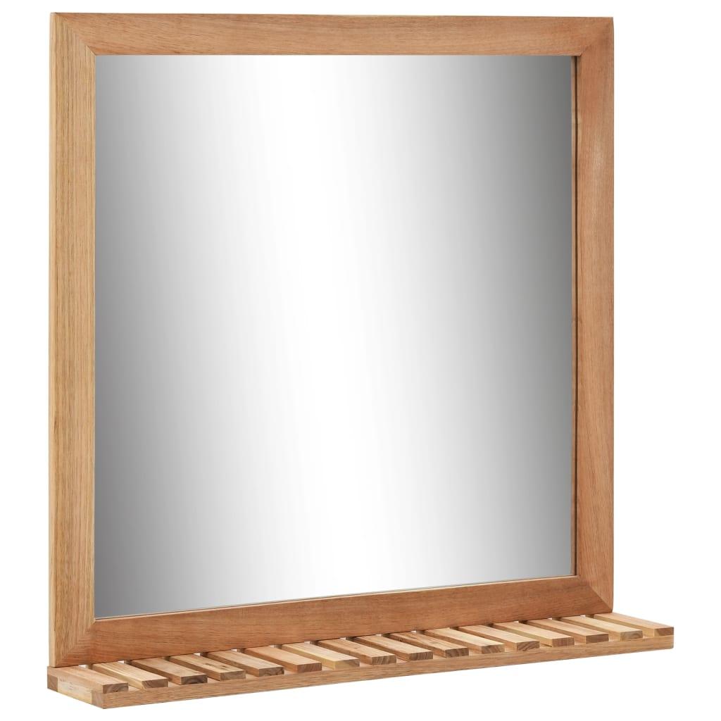 vidaXL Zrkadlo do kúpeľne masívne orechové drevo 60x12x62 cm